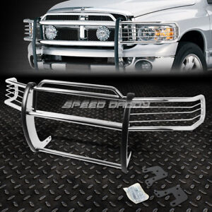 For 94 01 Dodge Ram 1500 3500 Chrome Stainless Steel Front Bumper Grill Guard