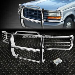 For 92 96 Ford F150 f350 Pickup Chrome Stainless Steel Front Bumper Grill Guard