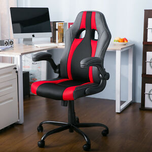 Merax High Back Office Chair Computer Racing Seat Executive Desk Leather