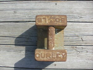 Curley Calibration Elevator Scale Weight 50 Lbs Doorstop Tent Anchor
