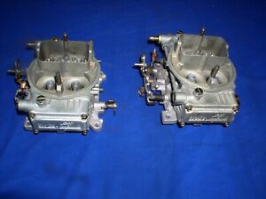 2 New 9776 Holley 450 Cfm Carbs 2x4 Dual Quad Tunnel Ram Amc Chevy Ford Mopar
