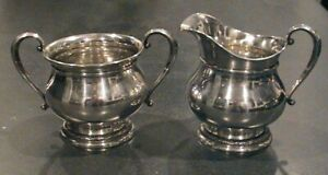 International Sterling Prelude Creamer And Sugar Clean Excellent