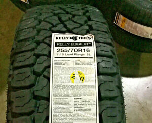 2 New 255 70 16 Kelly Edge A t Tires