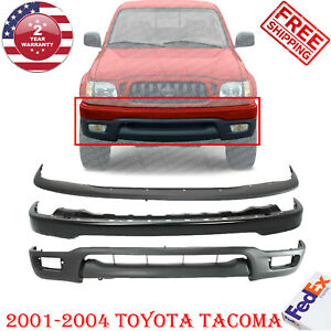 Front Black Steel Bumper Primed Filler Valance For 2001 2004 Toyota Tacoma