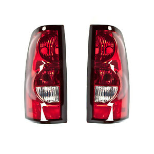 New Pair Of Tail Lights Fit Chevrolet Silverado 1500 Hd 2005 2006 Gm2801174