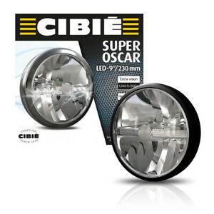 New Cibie Super Oscar 9 Black Auxiliary Light Fits Various Cars 9 Inches 45308