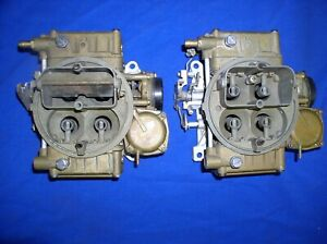 2 Used 8007 Holley 390 Cfm Carbs 2x4 Dual Quad Tunnel Ram Amc Chevy Ford Mopar