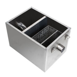 Commercial Grease Trap Stainless Steel Interceptor For Restaurant Kitchen Usa