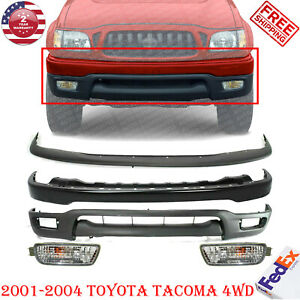 Front Bumper Primed Filler Valance Fog Light For 2001 2004 Toyota Tacoma