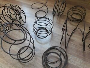 Lot Of 10 Vintage Rusty Bed Springs Nodders Country Art Crafts Shabby Repurpose