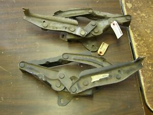 Nos Oem Ford 1965 1966 1967 Galaxie 500 Hood Hinges Xl Ltd Pair
