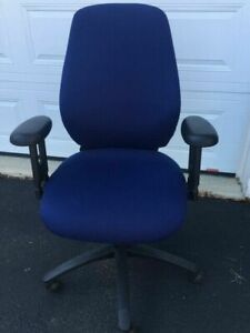Blue Dauphin Contour Ii model 2340p computer desk task office Chair In Vguc