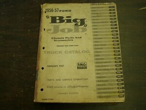 Original Ford 1955 1956 Big Truck Master Parts Book Chassis Catalog