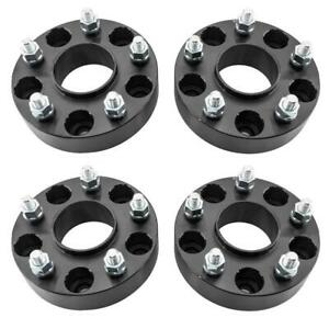 4 1 5 Wheel Spacers Hubcentric 5x5 For Jeep Jk Wrangler Grand Cherokee Black