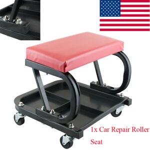 Car Repair Roller Seat Padded Mechanics Roller Auto Workshop Bench Easy Use Usa