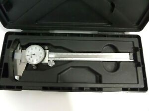 Mitutoyo Shock Proof Dial Caliper 0 6 With Case 505 637 50 good Shape