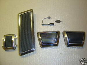 70 Mopar E Body Cuda Challenger 4 Speed Pedal Bezel Set