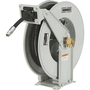 Roughneck Heavy duty Oil Hose Reel With 1 2in X 50ft Hose