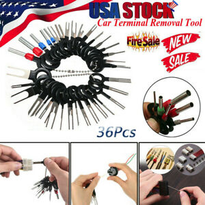 36pc Wire Terminal Removal Tool Car Electrical Wiring Crimp Connector Pin Kit Us