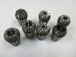 Used Er20 7 piece Spring Collet Set
