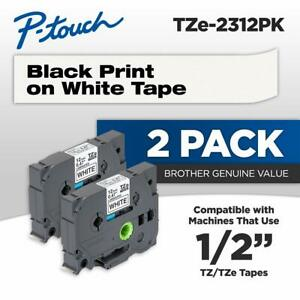 Brother Genuine P touch Tze2312pk 1 2 0 47 Standard Laminated P touch Tape
