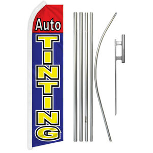 Auto Tinting Super Flag Kit Tall Advertising Super Swooper Feather