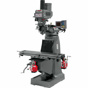 Jet Variable Speed Milling Machine W x y axis Powerfeeds W power Draw Bar