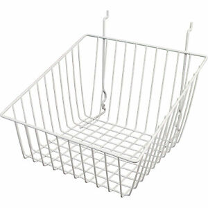 Econoco Multi fit Slope Front Basket For Slatwall Grid pegboard 12inwx12indx8inh