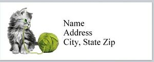 Personalized Address Labels Cute Little Kitty Cat Buy 3 Get 1 Free p 622