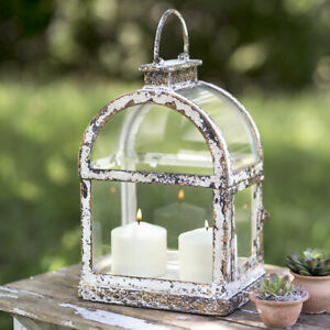 Primitive New Arched Window Pane Candle Lantern