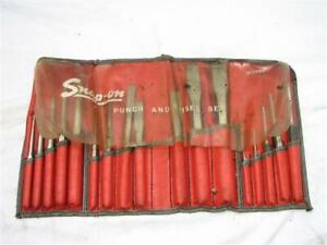 Snap On Chisel And Punch 17 Pc C 170c Auto Body Repair Shop Tools