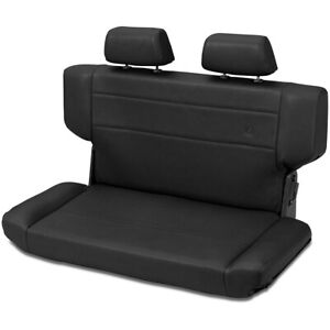 39435 01 Bestop Trailmax Bench Seat Black Crush For Jeep Wrangler 1997 2006