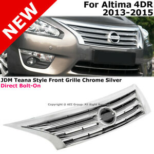 For Nissan Altima 13 15 Jdm Style Chrome Front Bumper Hood Grille Conversion