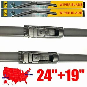 For Toyota Camry 2002 2006 24 19 Windshield Wiper Blades U J Hook Set Of 2