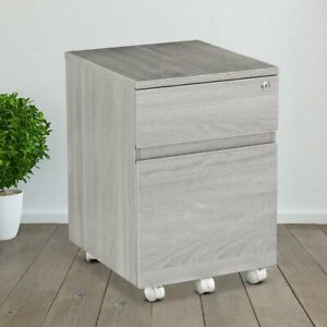 Porch Den Kinnear Office Rolling Two Drawer Storage And File Cabinet With Lock