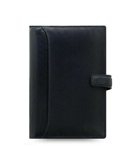 Filofax Lockwood Personal Leather Organizer Calendar Agenda Navy 026057