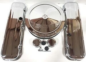 396 Logo Chrome Bbc Big Block Chevy Short Engine Dress Up Kit 396 427 454 502