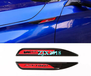 Abs Fit For 2018 2019 Honda Accord 10th Car Sideimpact Bars Badge Trim 2pcs