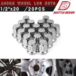 20 Lug Nuts Bulge Acorn Lugs 1 2 20 Closed End 5x4 5 5x114 3 For Mustang