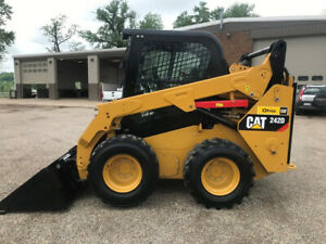 2015 Caterpillar 242d Rubber Tire Skid Steer Loader Cab Ac Wheel Cat Diesel