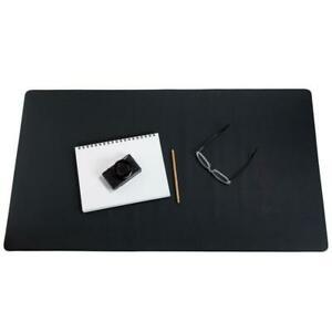 Zbrands Leather Smooth Desk Mat Pad Blotter Protector Midnight Black