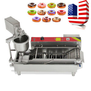 Commercial Automatic Electric Donut Making Machine Donut Fryer 3 Size Outlet