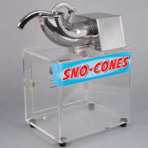 Free 4 Gallon Case Syrup Commercial Snow Cone Maker Shaved Ice Machine Electric