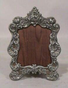 Fancy Victorian Rococo Style Small Silverplate Picture Frame Gorham