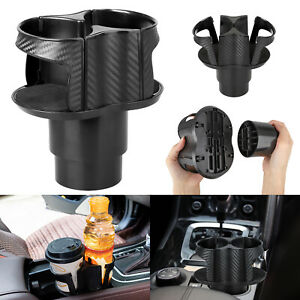 2 In1 Auto Car Seat Cup Holder Food Drink Bottle Mount Stand Storage Organizer