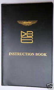 Aston Martin Db6 Instruction Book New