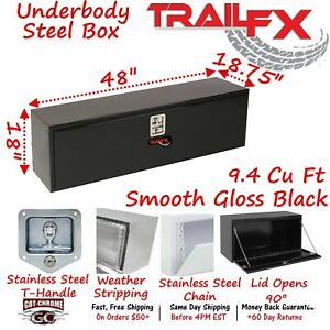 190482s Trailfx 48 Black Steel Underbed Truck Trailer Tool Box