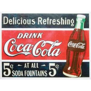 Coca-Cola 12x16 COKE CANVAS WALL ART, 2 to choose from, Retired Items, NEW