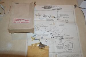 1953 Buick Special Windshield Washer Pump Install Kit Nos Trico Detail Parts