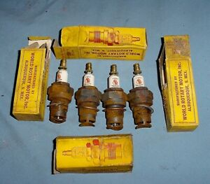 Nos Vtg Antique First American Indian Logo Spark Plugs Chevy Buick Ford Model A